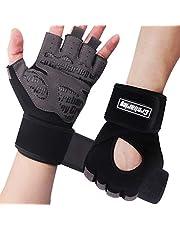 Grebarley Gymhandskar, träningshandskar med handledsstöd, tyngdlyftningshandskar, andningsbara sporthandskar, crossfitträning, passar för män och kvinnor
