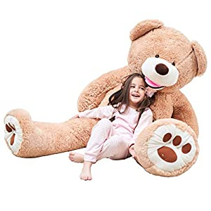 IKASA Teddy Bear Gigante con Grandes Huellas Juguete de Peluche Suave Animal de Peluche (Marrón, 160cm)