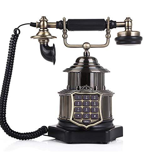 WDXLT Personalidad Decoración del Hogar Teléfono con Cable,Anti Radiación Botones Dial Telephone,Casa Oficina Teléfono Fijo Fijo,Teléfono Antiguo Marcación De Botones