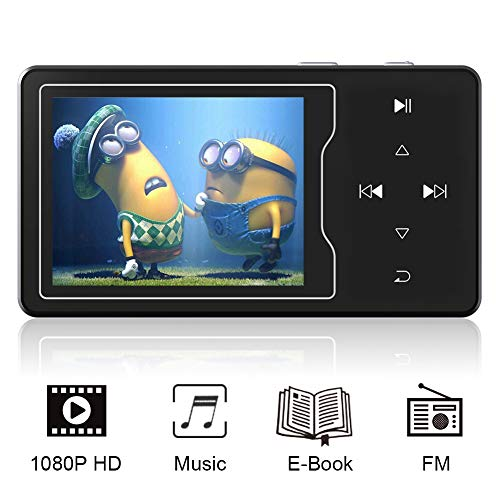 """RUIZU MP3 MP4 Video Player 16GB 2.4"""" Large Screen Music Player Built-in Speaker HiFi Sound Mp3 Player with FM Radio,Support up to 128GB"""