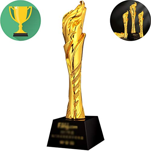 Trofee Creatieve Oscar Art Resin Gold Trophy Kinderen Spelen Rollen Award Trofeeën Motiverende Geschenken Voor Vrienden Belettering Maken (Color : Gold, Size : 30 * 8cm)