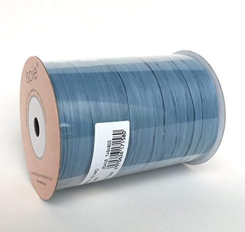Ispie Rayon Raffia Ribbon Crochet Yarn 1/4 100-Yard JEANS