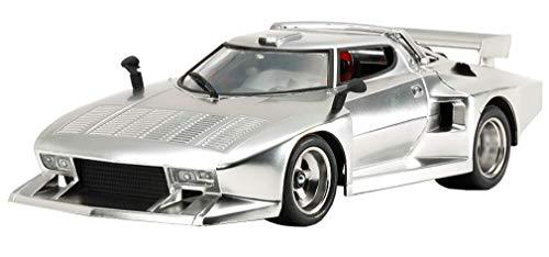 Tamiya 25418 25418-1:24 Lancia Stratos Turbo Silver Plat, modellismo, in plastica, Non Verniciata