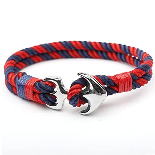 Marekyhm - Pulsera de acero inoxidable de calidad para hombre, pulsera de cuerda de moda (color de metal: 5)
