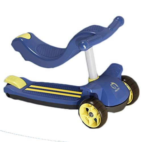 LZL Roller für Kinder 3 in 1 Can Push, Slide and Ride-Scooter für Kleinkinder Jungen Mädchen im Alter von 2-12...