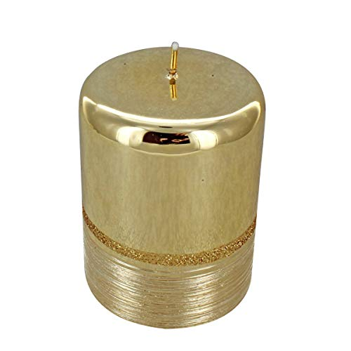 Vela pequeña dorada para pilar