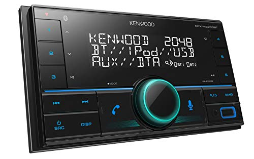 Kenwood DPX-M3200BT 2-DIN USB-autoradio met bluetooth handsfree functie (Alexa built-in, USB, AUX-In, high-performance tuner, Spotify Control, soundprocessor, 4x50 watt, variabele toetsverlichting)
