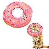 Opopark Collare Protettivo per Cani Gatto Animali Domestici Morbido Anti-morso Collare Dopo Chirurgia Ciambella Rosa(XS)