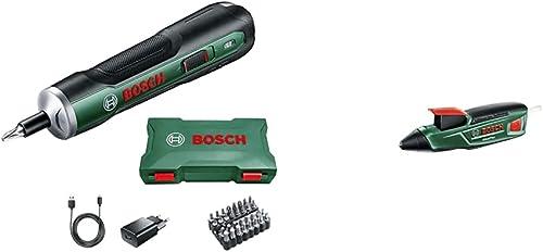 Visseuse sans fil ergonomique Bosch - PushDrive (Batterie 3,6V - 1,5Ah intégrée, livrée avec 32 embouts de vissage) &...