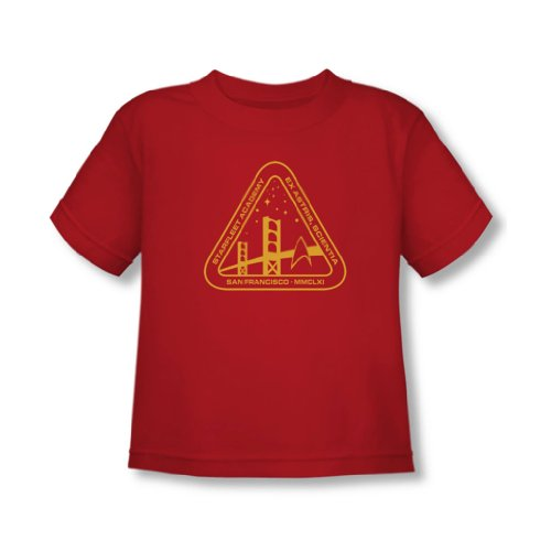 Star Trek - - T-shirt Academy Gold In Red, 2T, Red