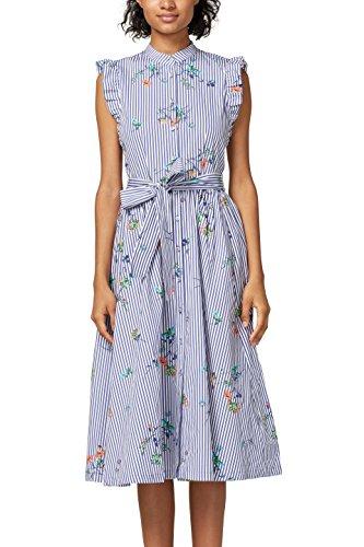 edc by ESPRIT Damen 038CC1E040 Kleid, Blau (Light Blue 440), 34