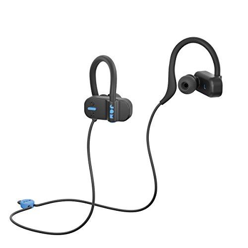 Jam Live Fast, bluetooth In-Ear-Kopfhörer für Sport & Workout, Ohrklammer für festen Sitz, 12 Std. Akkulaufzeit, 10m BT Radius, Freihand Telefonie, Schweißresistent, Ohrstöpsel in 3 Größen, black