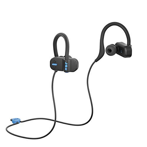 JAM Live Fast Workout Earphones  30 ft. Bluetooth Range, IP67 Sweat Resistant Earbuds 3 Sizes Included, 12 Hour Battery Life, Hands-Free Calling Black