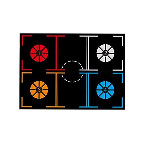 LILI Plan De Estera De Entrenamiento De Baloncesto Dispositivo De Entrenamiento De Regate para El Hogar De Los Niños Control De La Pelota del Paso del Pie Equipo Auxiliar Alfombrilla,A-1200 * 900mm