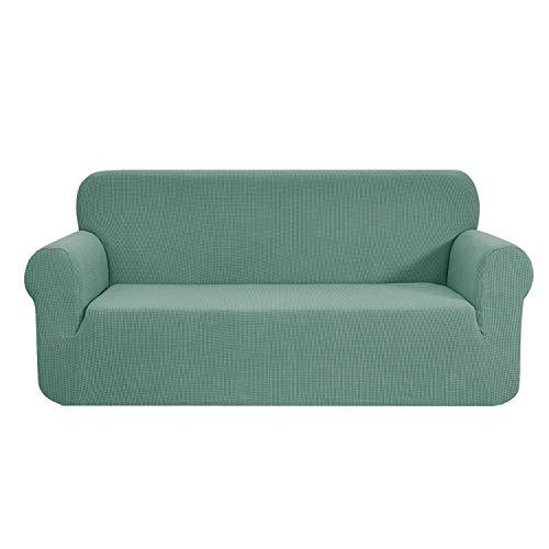 E EBETA Elastisch Sofa Überwürfe Sofabezug, Stretch Sofahusse Sofa Abdeckung Hussen für Sofa, Couch, Sessel 3 Sitzer (Hellgrün, 185-235 cm)