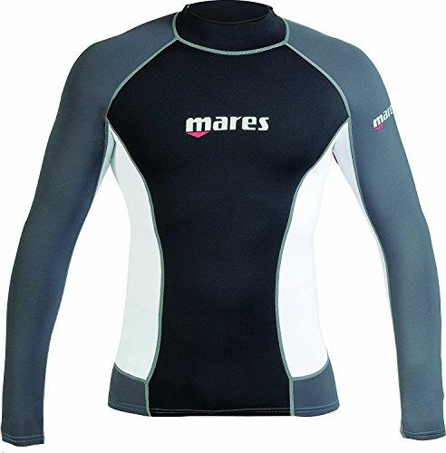 Mares - T-Shirt mit UV-Schutz für Herren (Kurzarm, Modell 2011) Farbe - Schwarz / Weiß, Größe S