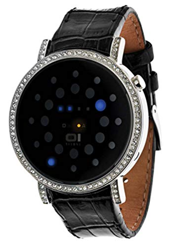 The ONE Unisex Binär Quarz Uhr mit Leder Armband ORS502B1