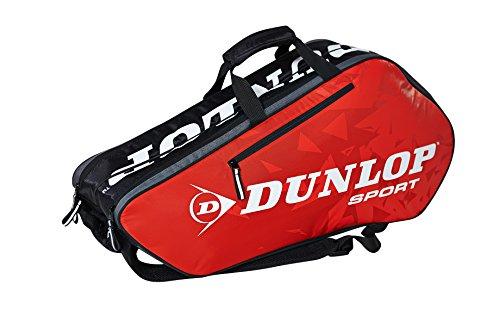Dunlop Schlägertaschen Tour 6 Racket Bag Tennistasche, Rot, 75 x 34 x 29 cm, 1 Liter