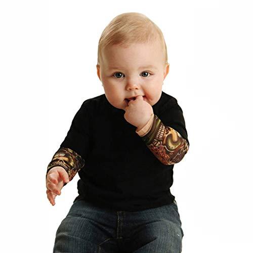 Snakell Einteiler für Jungen, Tattoo-Ärmel, 3-24 Monate, Grau/Schwarz Baby Jungen Mädchen Strampler Neue Unisex Tattoo Sleeve Kleinkind Overalls Für Kinder Baby Mode Einteilige Kleidung
