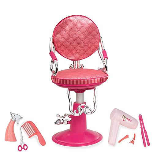 Our Generation 44482 Salon Chair, Coral Frisörstuhl mit Accessoires für Puppen, Carol