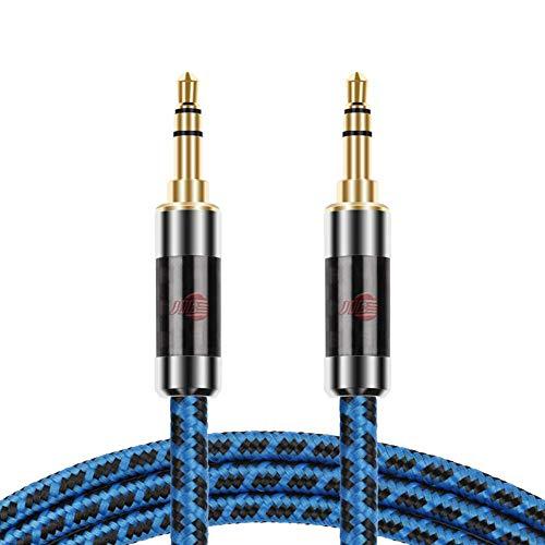 JIBドイツ製造 AUXオーディオケーブル標準3.5 mmオス to 3.5mmステレオミニプラグ ヘッドホンケーブル/車/iPhone/Android等対応/長さ1m