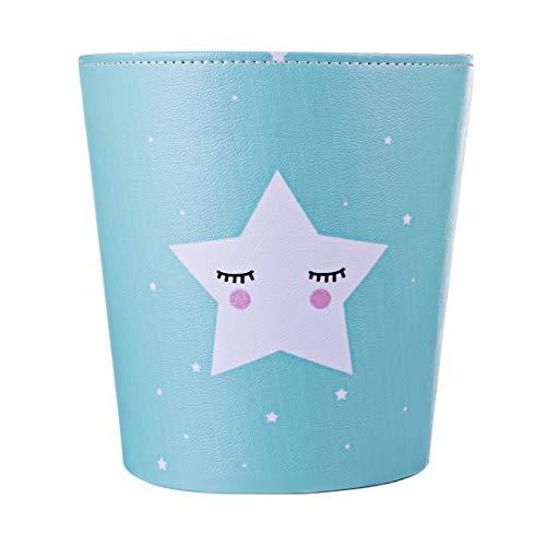 K9CK Papelera Oficina Infantil, 10L Papelera de Cuero Estrella Motivo Impermeable...