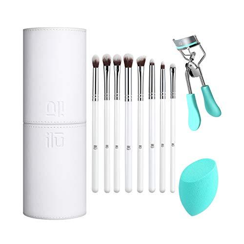 T4B ILU A Fabulash Day 11 Pcs Set Pinceaux Maquillage 1 Eponge 1 Tube Porte Pinceaux 1 Recourbe Cils