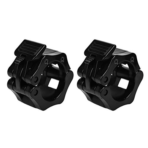 Yunhany Direct 1 Pair Olympic 28mm 30mm 50mm Spinlock Collars Barbell Dumbbell Clips Clamp Weight Bar Locks