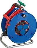 Brennenstuhl Garant ROL'UP Bretec IP44 Gewerbe-/Baustellen-Kabeltrommel (40m - Spezialkunststoff, Baustelleneinsatz und ständiger Einsatz im Außenbereich) blau