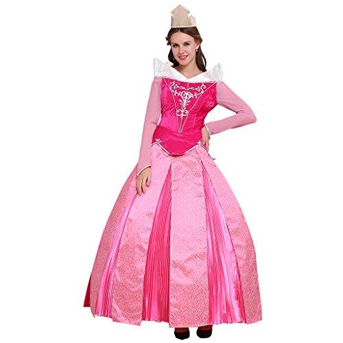 Fortunehouse Princesa Aurora Fancy Dress Up Dormir Princesa Cosplay Disfraz Rosa Caliente Vestido De Bola