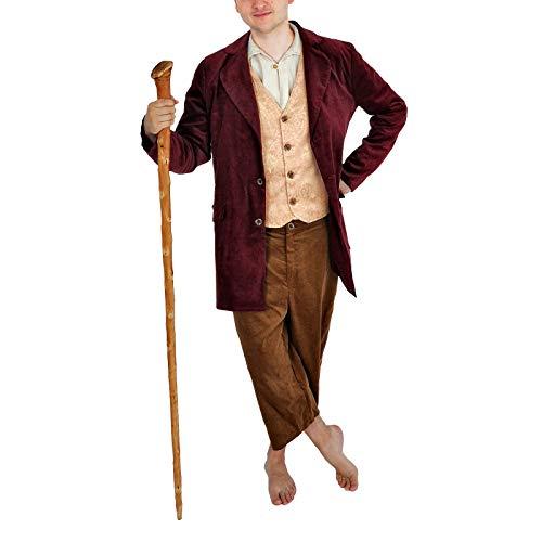 Elbenwald Halblings-Kostüm für Herr der Ringe Fans im Hobbit Stil 3-teilig für Herren und Damen rot braun - 54/56