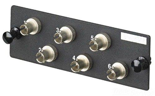 Panduit FAP6WSTZ Single-Mode 6-Port Fiber Adapter Panel with Zirconia Ceramic Split Sleeve