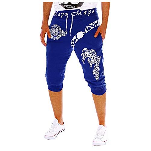 Xiangdanful Herren Shorts Männer Sommer Leinenshorts Kurze Leinenhose Kurze Jogginghose Bermuda Kurze Hose Trainingshose Laufhose Laufshorts Fitnesshose Einfarbig Casual Herrenshorts