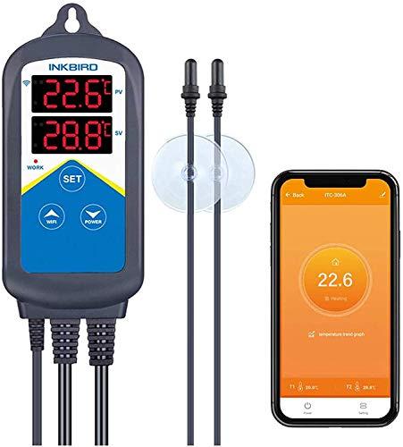 Inkbird ITC-306A WiFi Aquarium Temperature Controller Aquarium Thermostats Fish heater thermostat...