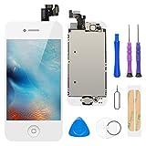 FLYLINKTECH Écran LCD Tactile de Remplacement pour iPhone 5 Blanc 4.0 Pouces,modèle Complet préassemblés (caméra...