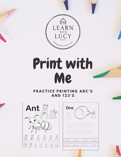 Print with Me: Practice Printing ABC's and 123's