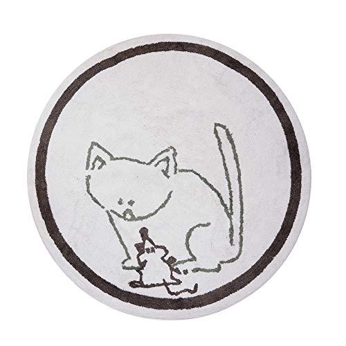 Aratextile. Tapis pour enfant 100% coton lavable en machine collection Chaton 140 cm Dia
