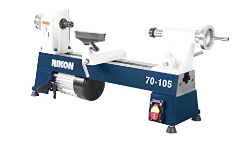 """RIKON Power Tools 70-105 10"""" x 18"""" 1/2 hp Mini Lathe"""