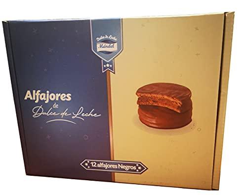 Mardel Alfajores Tradicionales Argentinos Chocolate Negro con Dulce de Leche - 12 Unidades