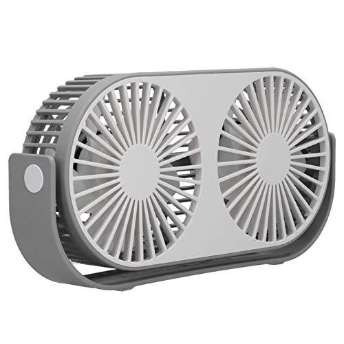 Mini ventilador USB de carga ABS y silicona ventilador eléctrico para dormitorio estudio oficina uso (blanco roto, tipo torre inclinada Pisa
