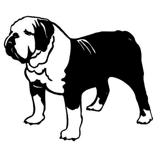 MCTYLI 13.7 * 11.5CM Engels Stier Hond Auto Sticker Plezier Grappig Dier Raam Stickers Automobile Accessoires