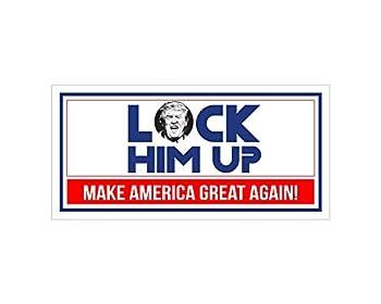 StickerPirate Car Magnet - Lock Him Up Make America Great Again Trump 2020 Trm327