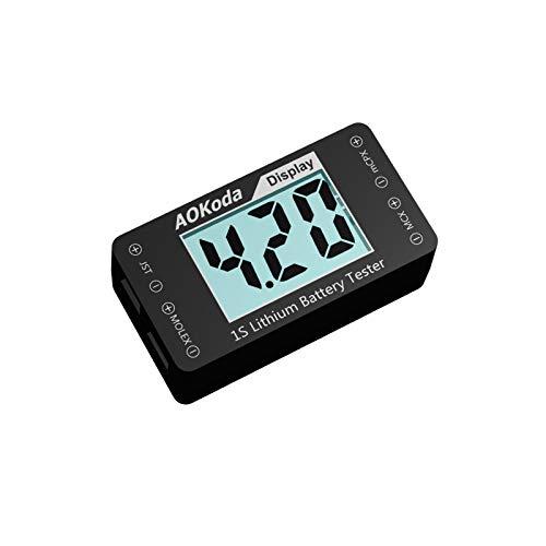 HEASEN AOKoda AOK-041 1S Lithium Battery Tester Indicator for Checker for JST MOLEX mCPX MCX Plug Connector Battery Voltage Volts DIY