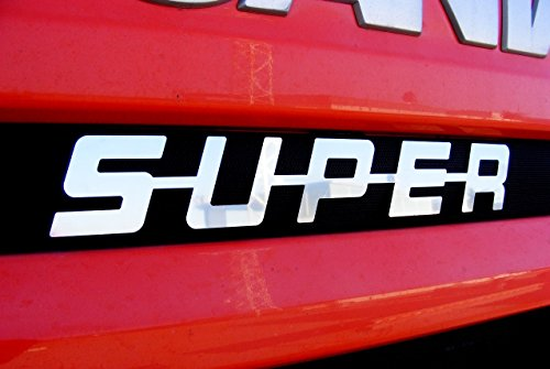 Einzigartige Edelstahl Stahl Poliert Metall vorne Super Schild Dekoration für Scania alle Series