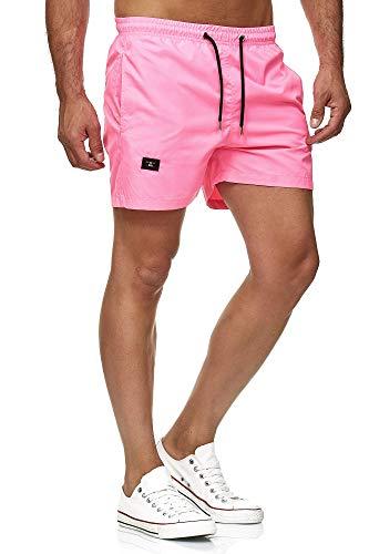 Red Bridge Herren Shorts Kurze Hose Badeshorts Schwimmhose Freizeit- Sport-Shorts (XL, Pink)
