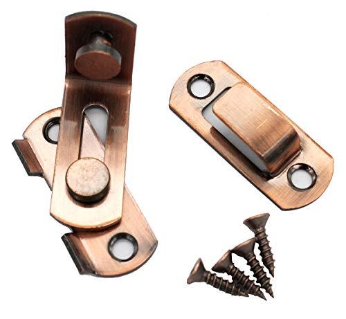 90 Grad Recht Winkel Tür Verriegeln Haspe Biegen Verriegeln Schnalle Bolzen Gleiten Sperren Fass Bolzen mit Schrauben zum Türen und Windows