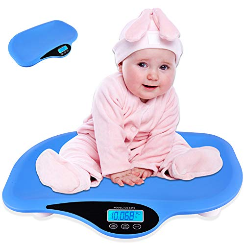 LYXCM Báscula para Bebés, Bascula para bebés Balanza Digital con Pantalla LCD y tallimetro