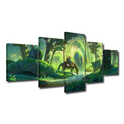 Animation Poster 5 stücke von Videospiel abstrakte Poster Spiel Karte link wandaufkleber Dekoration wandkunst Bild wandbild