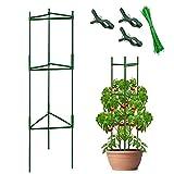 YAIKOAI Pflanzenhalter Tomaten Rankhilfe, Robuste Rankturm Tomatenpflanze Käfig Pflanze Stehen Gartenpflanze StützstangenKäfig Lange Stahl mit Kunststoff beschichtete Rankstab mit Verbindungsstange