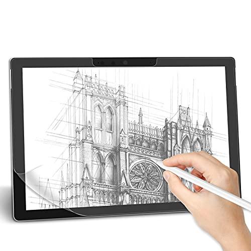 TENGSHI Paper-Like Matte Schutzfolie für Microsoft Surface Pro 7 plus/Surface Pro 7/Surface Pro 6/Surface Pro 5/Surface Pro 4, [2 Stück]Unterstützt Pencil, zum Schreiben, Zeichnen & Notizen machen